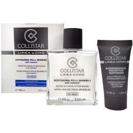 Collistar Sensitive Skins After-Shave, Linea Uomo, rinkinys balzamas po skutimosi vyrams, (100ml