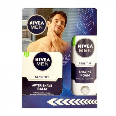 Nivea Men Sensitive, rinkinys balzamas po skutimosi vyrams, (100ml Men Sensitive losjonas po