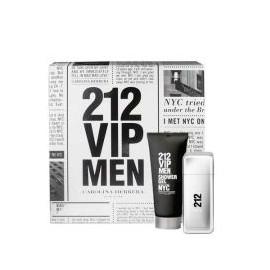 Carolina Herrera 212 VIP Men, rinkinys tualetinis vanduo vyrams, (EDT 100ml + 100ml dušo želė)
