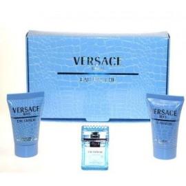 Versace Man Eau Fraiche, rinkinys tualetinis vanduo vyrams, (EDT 5ml + 25ml dušo želė + 25ml