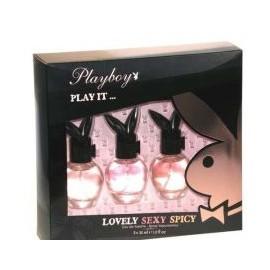 Playboy Play It ... rinkinys moterims, (30ml Play It Lovely + 30ml Play It Sexy + 30ml Play It