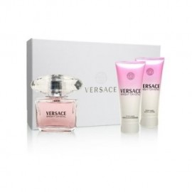 Versace Bright Crystal, rinkinys tualetinis vanduo moterims, (EDT 50ml + 50ml kūno losjonas + 50ml