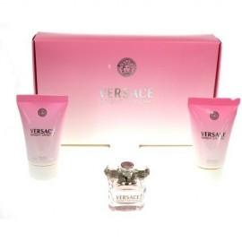 Versace Bright Crystal, rinkinys tualetinis vanduo moterims, (EDT 5ml + 25ml kūno losjonas + 25ml