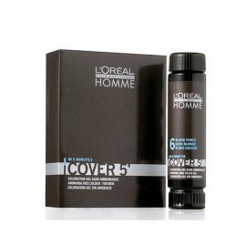 L´Oréal Professionnel Homme, Cover 5´, plaukų dažai vyrams, 3x50ml, (5 Light Brown)