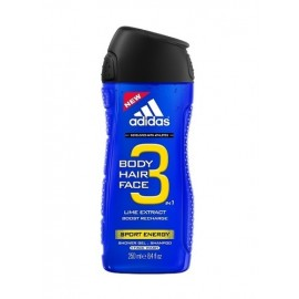 Adidas Sport Energy, 3in1, dušo želė vyrams, 250ml