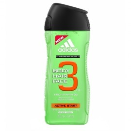 Adidas Active Start, 3in1, dušo želė vyrams, 250ml