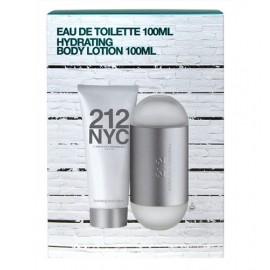 Carolina Herrera 212 NYC, rinkinys tualetinis vanduo moterims, (EDT 100ml + 100ml kūno losjonas)