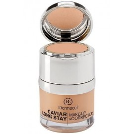 Dermacol Caviar Long Stay, Make-Up & Corrector, makiažo pagrindas moterims, 30ml, (2 Fair)