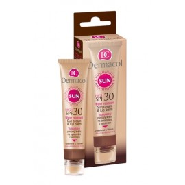 Dermacol Sun Cream & Lip Balm, SPF30, veido apsauga nuo saulės moterims, 30ml
