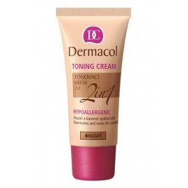 Dermacol Toning Cream, 2in1, BB kremas moterims, 30ml, (Biscuit)