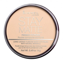 Rimmel London Stay Matte, kompaktinė pudra moterims, 14g, (003 Peach Glow)