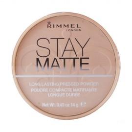 Rimmel London Stay Matte, kompaktinė pudra moterims, 14g, (009 Amber)