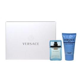 Versace Man Eau Fraiche, rinkinys tualetinis vanduo vyrams, (EDT 30ml + 50ml dušo želė)