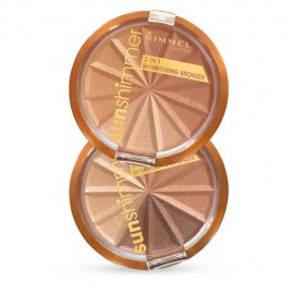 Rimmel London Sun Shimmer, 3in1, bronzantas moterims, 9,9g, (002 Bronze Goddess)
