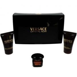 Versace Crystal Noir, rinkinys tualetinis vanduo moterims, (EDT 5ml + 25ml kūno losjonas + 25ml