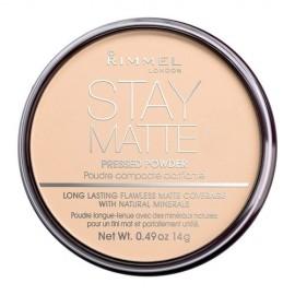 Rimmel London Stay Matte, kompaktinė pudra moterims, 14g, (005 Silky Beige)