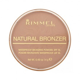Rimmel London Natural Bronzer, bronzantas moterims, 14g, (021 Sun Light)