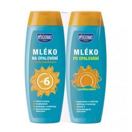 Dermacol BioExtrakt SET SPF6 7701 rinkinys moterims, (250ml Suntan milk  SPF6 + 250ml pienelis po