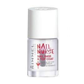 Rimmel London Nail Nurse, Base & Top Coat, nagų lakas moterims, 12ml