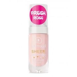Dermacol Sheer, Face Illuminator, makiažo pagrindo bazė moterims, 15ml, (fresh rose)