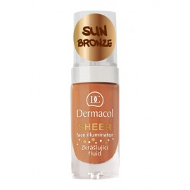 Dermacol Sheer, Face Illuminator, makiažo pagrindo bazė moterims, 15ml, (sun bronze)