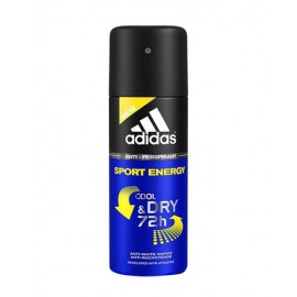 Adidas Sport Energy, Cool & Dry 72h, antiperspirantas vyrams, 150ml