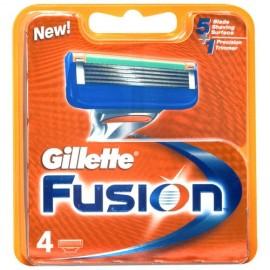 Gillette Fusion, skutimosi peiliukų galvutės vyrams, 4pc