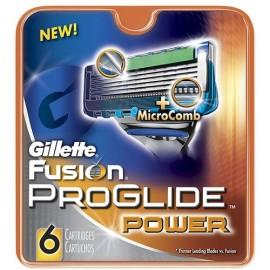Gillette Fusion Proglide Power, skutimosi peiliukų galvutės vyrams, 8pc
