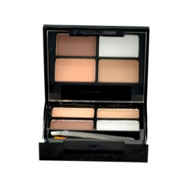 Makeup Revolution London Focus & Fix, Eyebrow Shaping Kit, dažų paletė antakiams moterims, 5,8g,