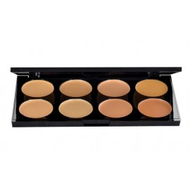 Makeup Revolution London Ultra Cover And Conceal Palette, maskuoklis moterims, 10g, (Light-Medium)