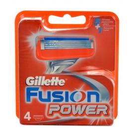 Gillette Fusion Power, skutimosi peiliukų galvutės vyrams, 4pc