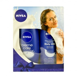Nivea Creme Care, rinkinys dušo želė moterims, (250ml Creme Care kremas Shower + 250ml Body
