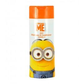 Minions Hair Care, 2in1 Shampoo & Conditioner, šampūnas vaikams, 400ml