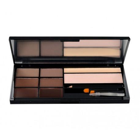 Makeup Revolution London Ultra Brow Palette, dažų paletė antakiams moterims, 18,98g, (Medium To