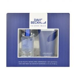 David Beckham Classic Blue, rinkinys tualetinis vanduo vyrams, (EDT 40ml + 200ml dušo želė)