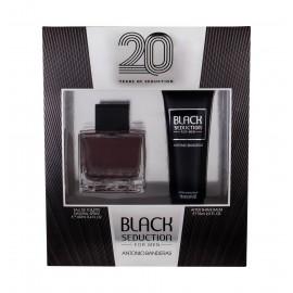 Antonio Banderas Seduction in Black, rinkinys tualetinis vanduo vyrams, (EDT 100 ml + losjonas po