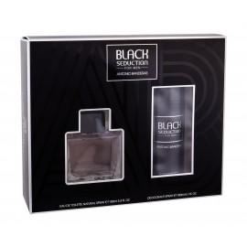 Antonio Banderas Seduction in Black, rinkinys tualetinis vanduo vyrams, (EDT 100 ml + dezodorantas
