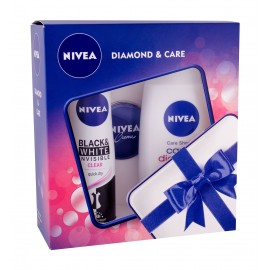 Nivea Care & Diamond, rinkinys dušo želė moterims, (dušo želė Care & Diamond 250 ml +