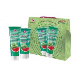Dermacol Fresh Watermelon, Aroma Ritual, rinkinys dušo želė moterims, (dušo želė 250 ml +