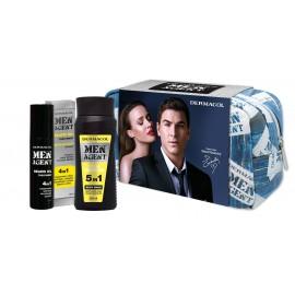 Dermacol Total Freedom, Men Agent, rinkinys dušo želė vyrams, (dušo želė 5in1 250 ml + barzdos