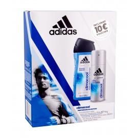 Adidas 48H, Climacool, rinkinys antiperspirantas vyrams, (Antiperspirant 150 ml + dušo želė 250