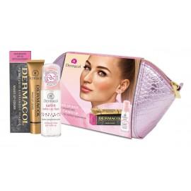 Dermacol Satin, rinkinys makiažo pagrindo bazė moterims, (Make Up Base 30 ml + Make Up Cover SPF30