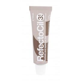 RefectoCil Eyelash And Eyebrow Tint, blakstienų priežiūrai moterims, 15ml, (3.1 Light Brown)