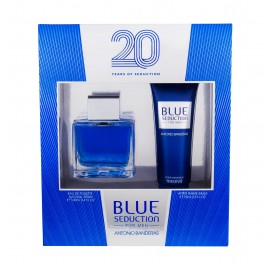 Antonio Banderas Blue Seduction For Men, rinkinys tualetinis vanduo vyrams, (EDT 100 ml + losjonas