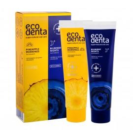 Ecodenta Pineapple Mornings, Toothpaste, rinkinys dantų pasta moterims ir vyrams, (Toothpaste