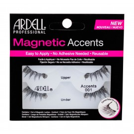 Ardell Magnetic Accents, Accents 001, dirbtinės blakstienos moterims, 1pc, (Black)
