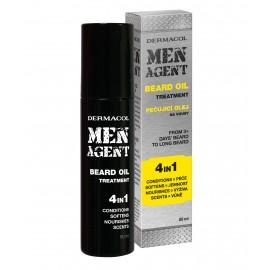 Dermacol Men Agent, Beard Oil 4in1, barzdos aliejus vyrams, 50ml