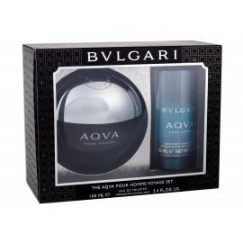 Bvlgari Aqva Pour Homme, rinkinys tualetinis vanduo vyrams, (EDT 100 ml + pieštukinis dezodorantas