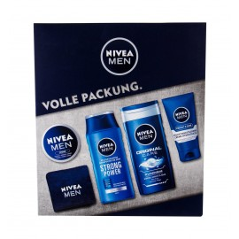 Nivea Men Original, rinkinys dušo želė vyrams, (dušo želė 250 ml + šampūnas Strong Power 250