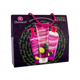 Dermacol Grape & Lime, Aroma Ritual, rinkinys vonios putos moterims, (Bubble Bath 500 ml + dušo